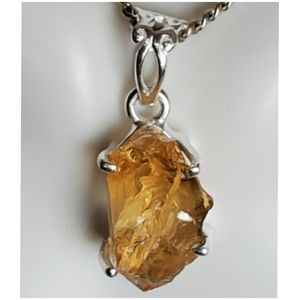 Jewelry - Genuine Natural Citrine Nugget Pendant/Necklace